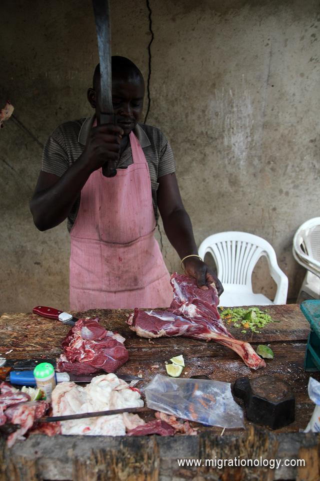 Chopping goat
