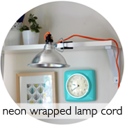 Neon Wrapped Lamp Cord