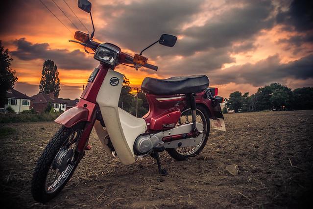 My Honda c90 'Midnight Stallion'