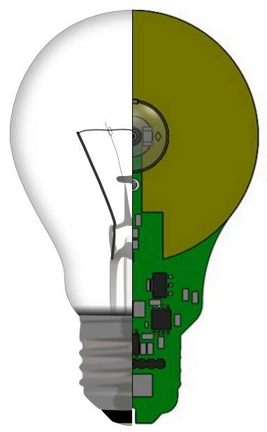 NliteN создает плоскую светодиодную лампу за $ 3