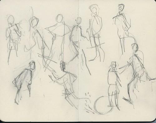 soccer gesture drawings by Bricoleur's Daughter