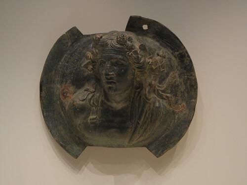 DSCN7269 _ Roundel with Dionysos, Greek, 150-125 B.C., Getty Villa, July 2013