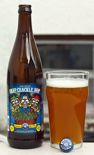 Review: Parallel 49 Snap, Crackle, Hop (HOP KRISPIES!) Imperial Rice IPA by Cody La Bière