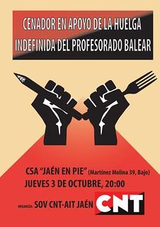 Cenador de apoyo a la huelga indefinida del profesorado balear