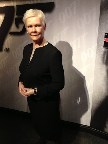 Judi Dench figure at Madame Tussauds London