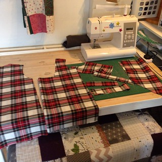 Another #wikstentova cut out ready to sew bargain plaid :)