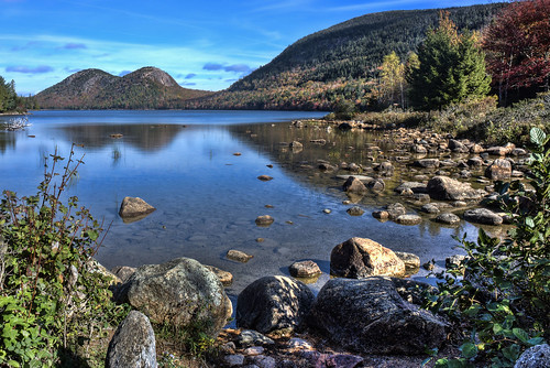 Jordan Pond, Acadia National Park, Maine, USA
