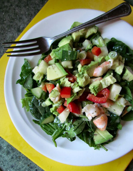 Shrimp Ceviche on Salad