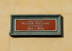 Photo of William Williams brown plaque