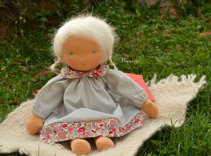 Cotton dress for a 15 inch doll