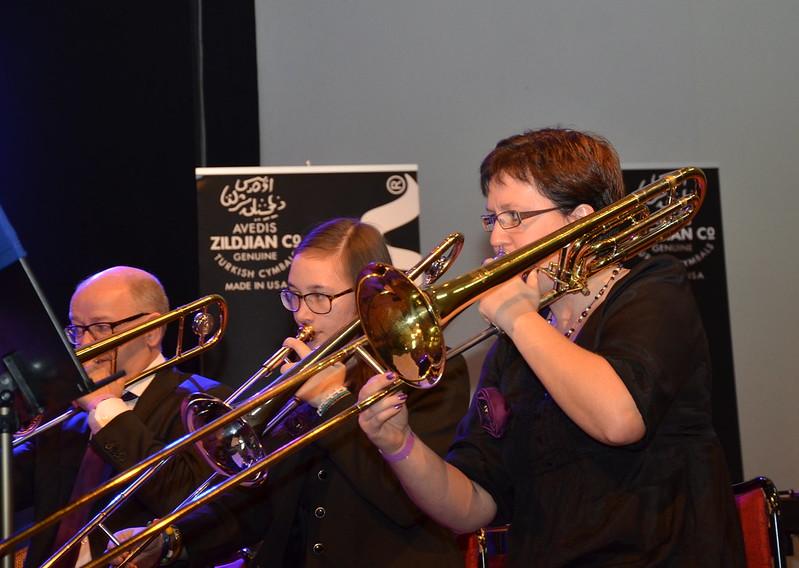 Brassbandfestivalen 2013 - Trombonsektion, Åsenhöga Missionskyrkas Brass Band (Foto: Annette Forsberg)