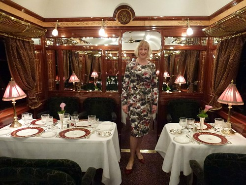 Orient Express - Mary in dining car
