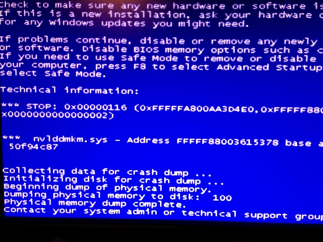 Nvidia blue screen
