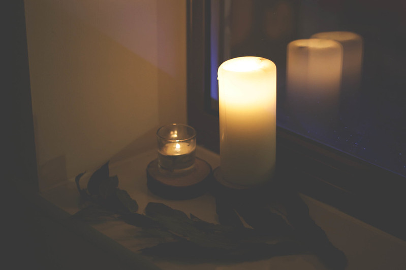 candles by the window