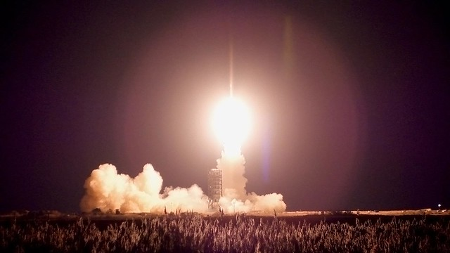 <p>Launch of a United States Air Force Minotaur I rocket from the NASA Wallops Flight Facility in Wallops Island, Virginia on November 19, 2012. <br /> <br /> The rocket deployed 29 small satellites, including one built by University of Hawai'i at Manoa engineering students.</p>
