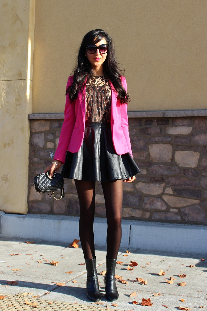 Pink Blazer and Leopard Print 4