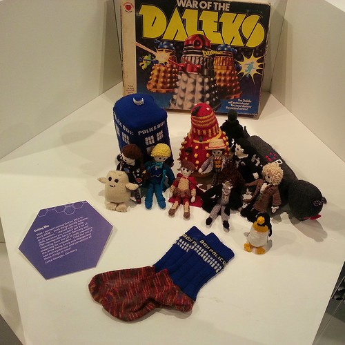 knitted doctor who items Doctor Who and Me Exhibition
