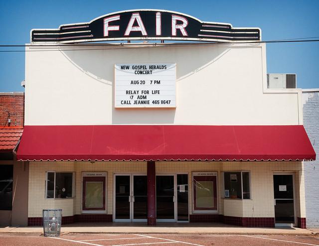 Fair Theatre (1935), 112 E. Market St, Somerville, TN (1854, pop. 3,094), USA