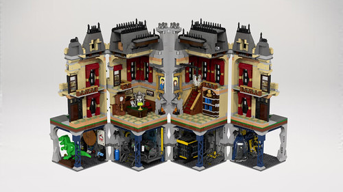 Wayne Manor Modular Lego Licensed Eurobricks Forums