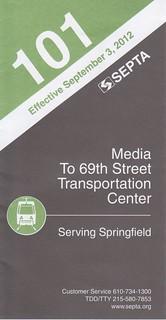 SEPTA 2012 101 Cover