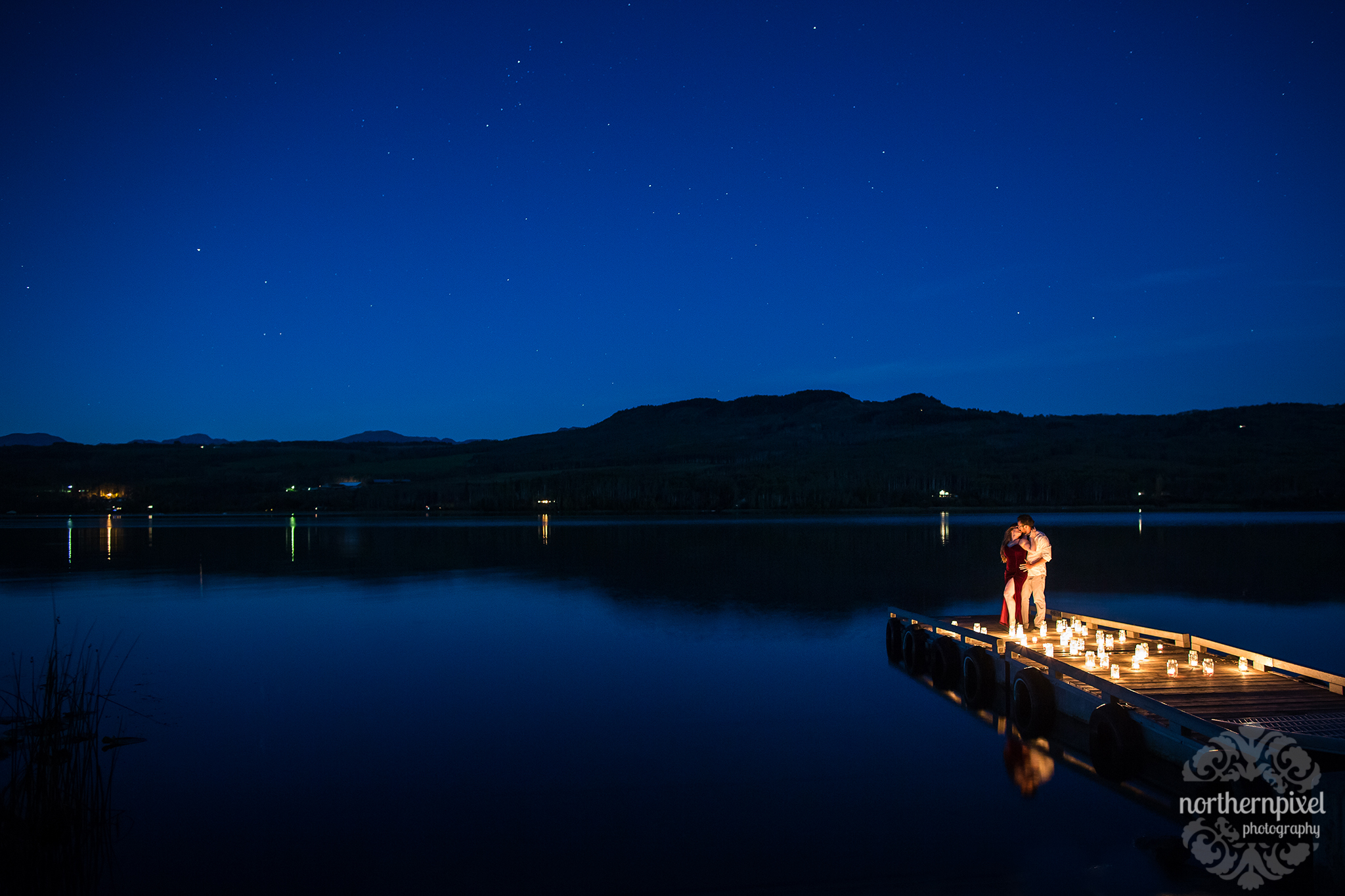 Night Photography at Tyhee Lake Smithers BC Wedding Elopement