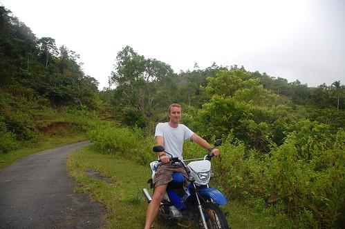 Greg on motorbike