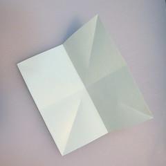 การพับกระดาษรูปดอกมอร์นิ้งกลอรี่ (Origami Morning Glory – アサガオの折り紙) 002