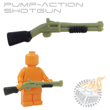 Pump-Action Shotgun - Olive Green (black pump & stock print)