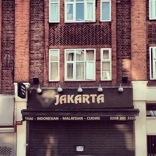 Name: Jakarta. Food: Thai, Indonesian & Malaysian culinaries. Owner: Jewish. Bhineka Tunggal Selera.