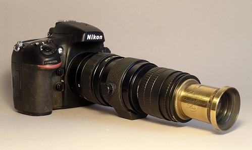 Berthiot Aplanat nº 3 (sn 23001) on Nikon D800