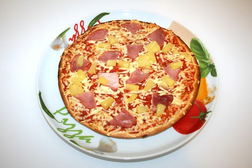 07 - Pizza Hawaii (Wagner Steinofen)  - Fertig gebacken / Finished baking