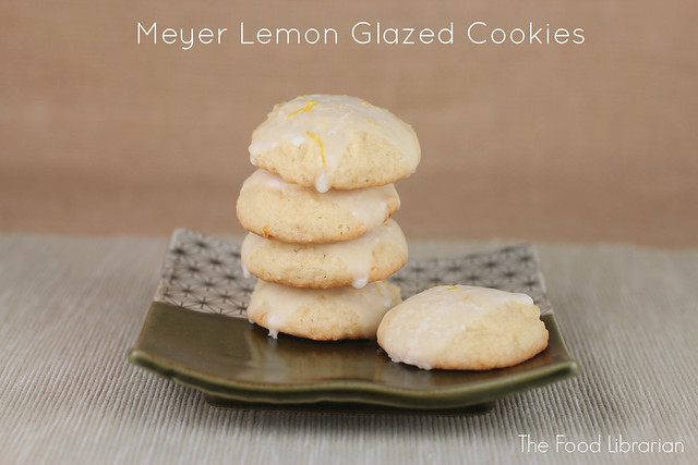 Meyer Lemon Glazed Cookies