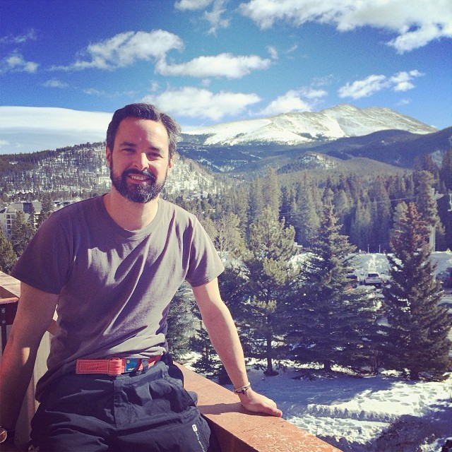 Brian Difeo catches some rays between runs in Breckenridge, CO. Nothing goes with a Bluebird day like some ntandy. #respect #dreamweaving #boundforglory #ntandy