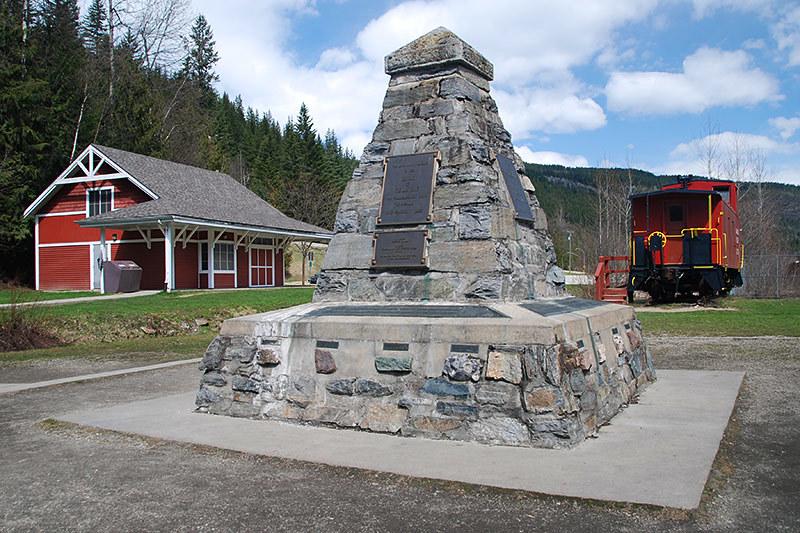 Last Spike at Craigellachie, Eagle Pass, Kootenays, British Columbia, Canada