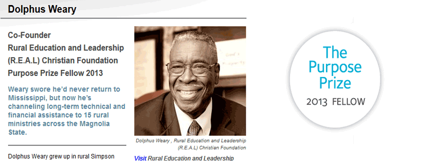 Dr. Weary: 2013 Purpose Prize Fellow!