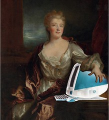 Émilie du Châtelet and Her iMac G3, after Nicolas de Largillière