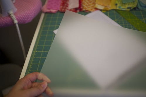 Template Plastic and your pattern sheet