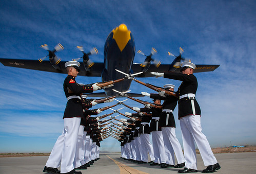 Silent Drill Platoon & Blue Angels 'Fat Albert'