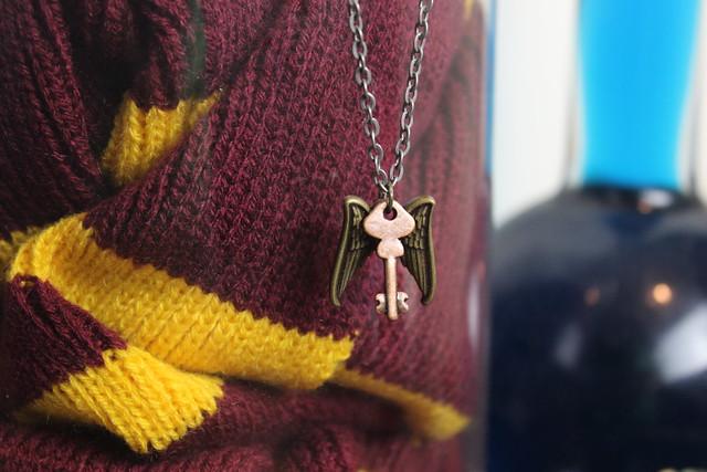 Winged Key Necklace