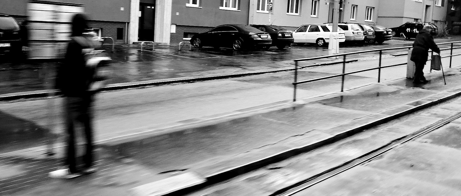 Tram Stop taken from Moving Tram