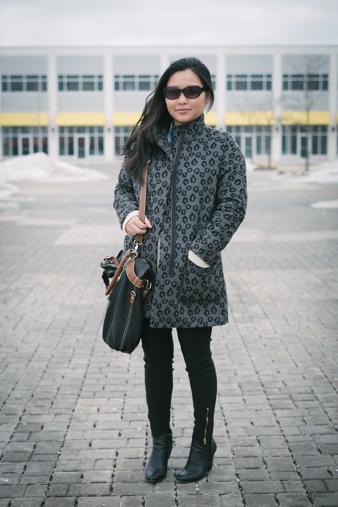 old navy leopard coat, locale black brown purse