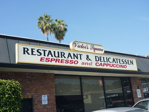 Victor's Square - Restaurant & Delicatessen Sign - Hollywood CA - Photos By Keith Valcourt