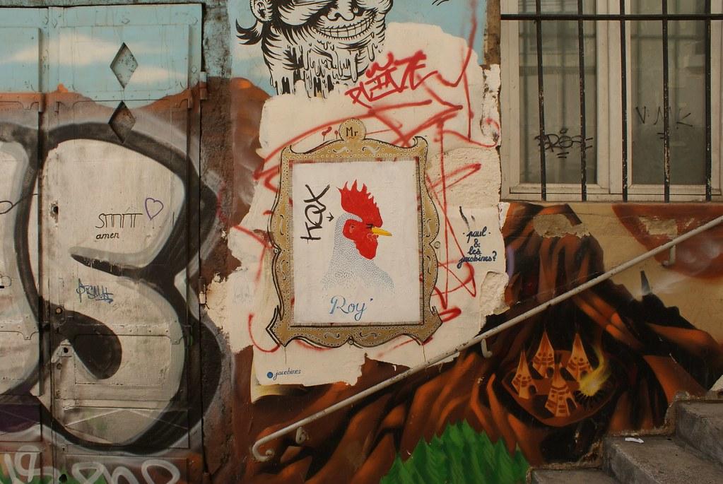 Street art sur les pentes de la Croix Rousse à Lyon.