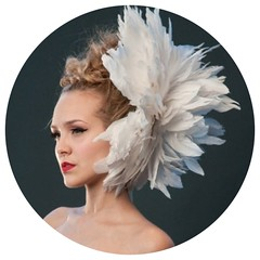Peony Feather Headpiece