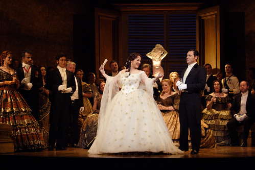 Diana Damrau as Violetta Valery and Francesco Demuro as Alfredo in La traviata, The Royal Opera © ROH / Catherine Ashmore 2014
