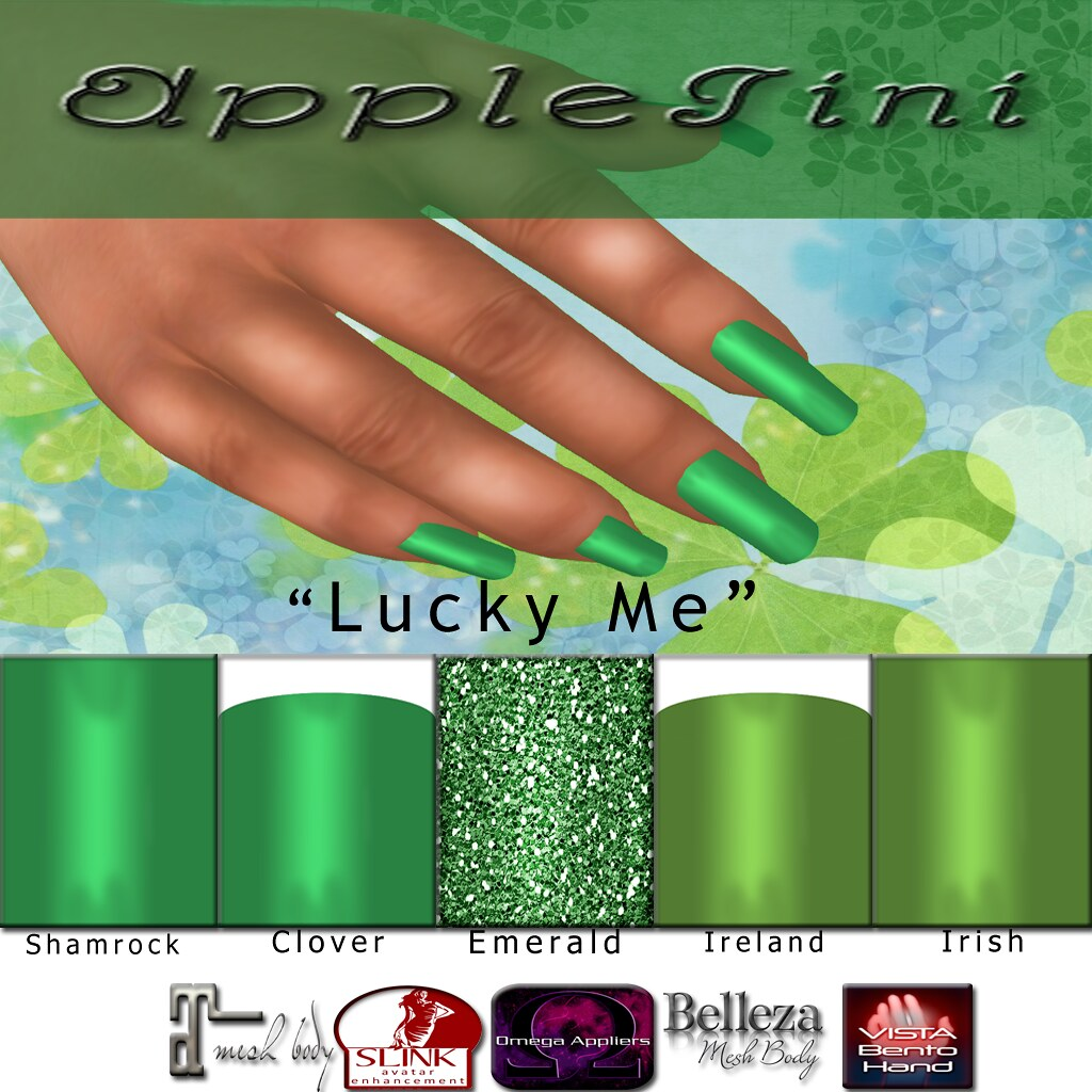 AppleTini Lucky Me Nails - SecondLifeHub.com