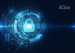 Abstract security digital technology background. Illustration Vector