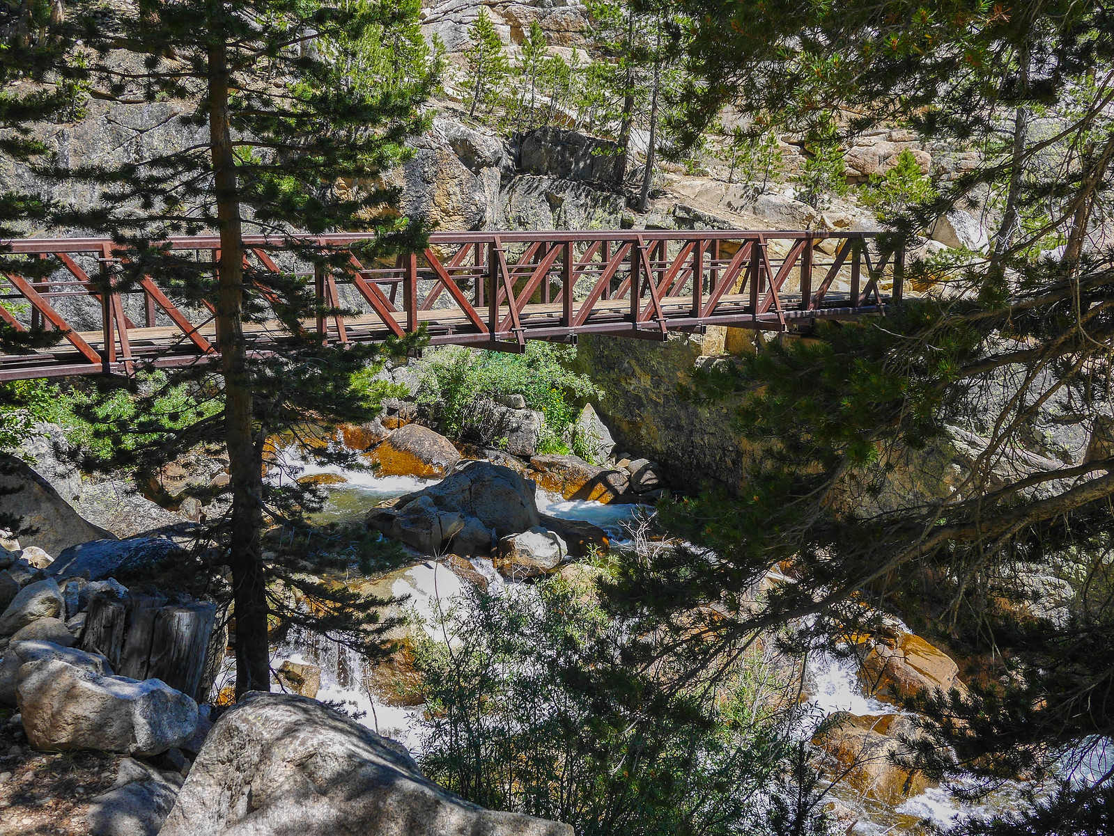 Bridge on JMT over Fish Creek