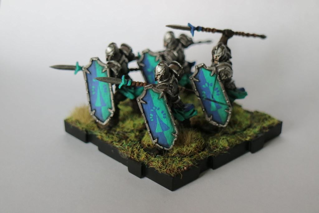 Runewars Miniatures Blue Spearmen 1