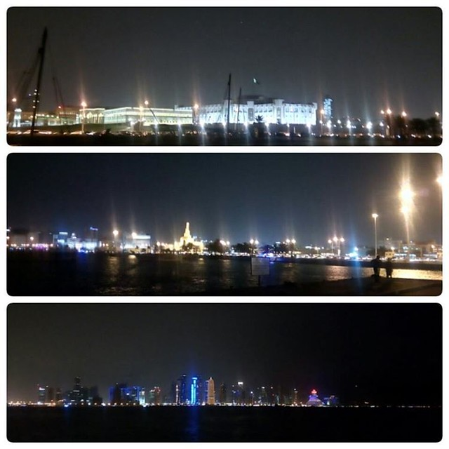 Yesterday night in Doha Cornish #sageerpr #night #dohaweather #doha #qatar #qatarinstagram #cornish #Dohacornish